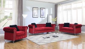 Sahara Traditional Living Room Set in Red