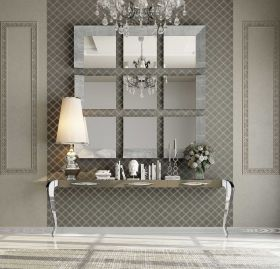Salamanca Modern Console Table in Silver