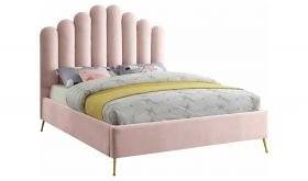Sedona Contemporary Velvet Bed in Pink