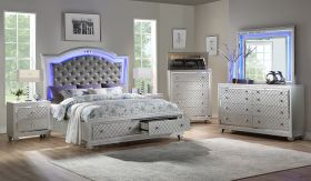 Shiney Contemporary Bedroom Set in Gray
