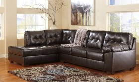Signature Design by Ashley Alliston Sectional in Chocolate DuraBlend [FSD-2399SEC-CHO-GG]