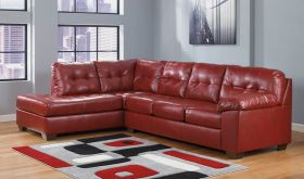 Signature Design by Ashley Alliston Sectional in Salsa DuraBlend [FSD-2399SEC-RED-GG]