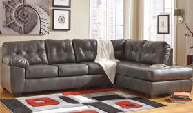 Signature Design by Ashley Alliston Sectional with Right Side Facing Chaise in Gray DuraBlend [FSD-2399RFSEC-GRY-GG]