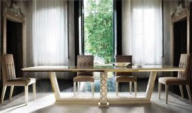 Sipario Day Dining Room Set in Brown & Beige