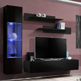Solvang Wall Mounted Floating Modern Entertainment Center (Size G3)