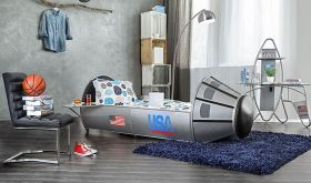 Space Youth Novelty Bed in Silver