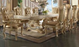 Sponge Traditional Dining Room Set in Golden Beige