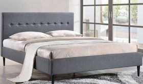 Stacy Contemporary Bed in Smoke