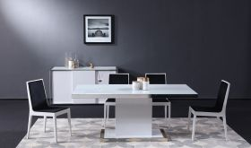 J&M Star Modern Dining Room Set in White