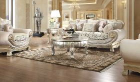 Sumiton Traditional Living Room Set in Belle Silver