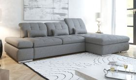 Surrency Modern Sectional Sofa with Bed & Storage in Gary