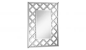 "Syosset 28.5"" Modern Wall Mirror in Clear & White"