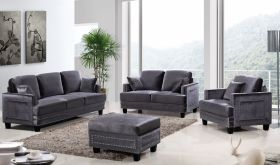 Tahoe Contemporary Living Room Set in Gray