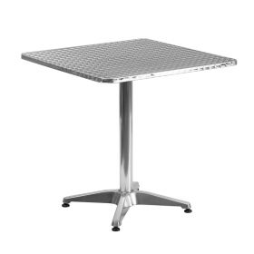 27.5'' Square Aluminum Indoor-Outdoor Table with Base [TLH-053-2-GG]