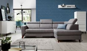 Toomsboro Modern Functional Sectional Sofa with Bed & Storage in Gray