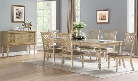 Traverse Traditional Dining Room Set in Gold
