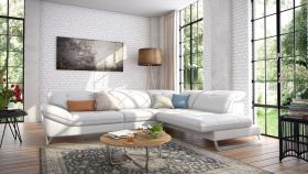 Trinidad  Modern Montana Sectional Sofa in Off White
