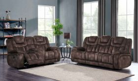 U1706 Fabric Living Room Set in Night Range Chocolate