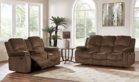 U3118C Fabric Living Room Set in Subaru Coffee