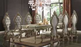 Umoja Traditional Dining Room Set in Gold
