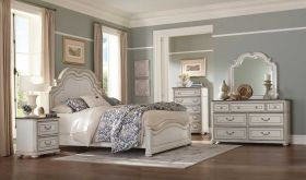 Union Traditional Bedroom Set in Antique White