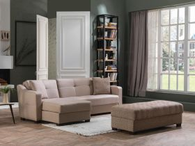 Utah Convertible Sectional Sofa in Remoni Vizon