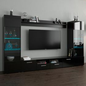 "Vada Modern 102"" Wall Unit Entertainment Center"