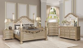 Valentina Contemporary Bedroom Set in Brown