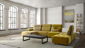 Vegas  Modern Tonique Sectional Sofa in Gold
