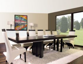 Cortez Modern Dining Room Set in Wenge