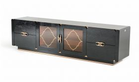 VIG A&X Padua Modern TV Stand in Black