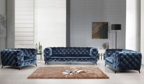 VIG Divani Casa 1546 Modern Living Room Set in Blue