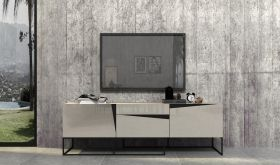 VIG Modrest Hope Modern TV Stand in Grey Gloss