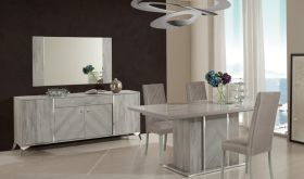 VIG Nova Domus Alexa Italian Modern Dining Room Set in Grey