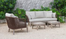 VIG Renava Fiji Outdoor Sofa Set in Beige