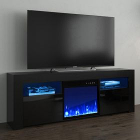 "Virginia Modern Electric Fireplace 58"" TV Stand"