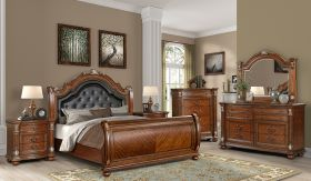 Viviana Contemporary Bedroom Set in Dark Brown