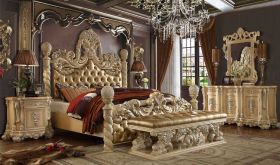 Walla Traditional Bedroom Set in Golden Beige