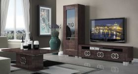 Walton Modern Entertainment Set in Walnut