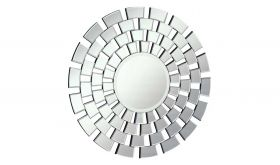 """Wappinger 32"""" Modern Wall Mirror in Clear & White"""
