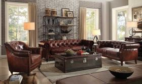 Warsaw Traditional Living Room Set in Dark Brown