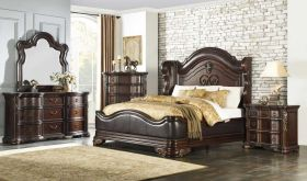 Wayne Traditional Bedroom Set in Dark Cherry