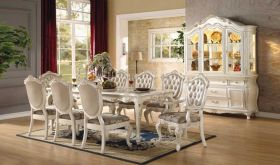Wealden Traditional Dining Room Set in Pearl White