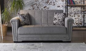 Wichita Convertible Sleeper Loveseat in Velencia Gray