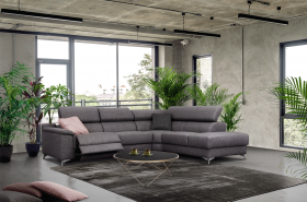 Williams Modern Sectional Sofa with 1 Electric Recliner in Grey