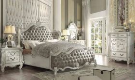 Wirral Traditional Bedroom Set in Gray & White