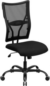 HERCULES Series 400 lb. Capacity Big & Tall Black Mesh Executive Swivel Office Chair [WL-5029SYG-GG]