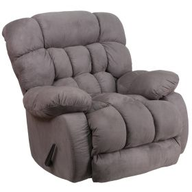 Contemporary Softsuede Graphite Microfiber Rocker Recliner [WM-9200-531-GG]