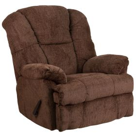 Contemporary Hillel Chocolate Chenille Rocker Recliner [WM-9745-436-GG]