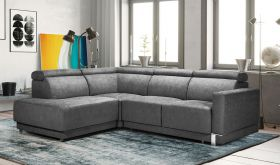 Woodbury Modern Sectional Sofa with Bed & Storage in Gray